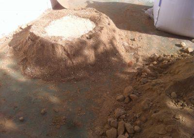Tierra, arena y cáñamo
