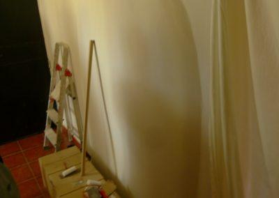Muro radiante pintado, 6 cm de espesor