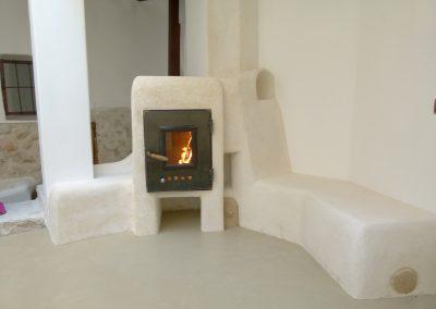 Estufa calefactora con banco caliente
