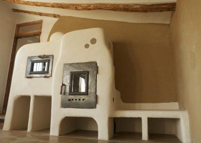 Estufa de inercia calefactora con horno