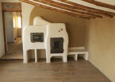 Alzado principal estufa, horno y banco