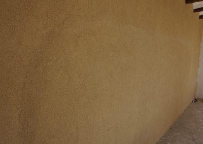 Revestimiento de tierra y relieve de muro radiante