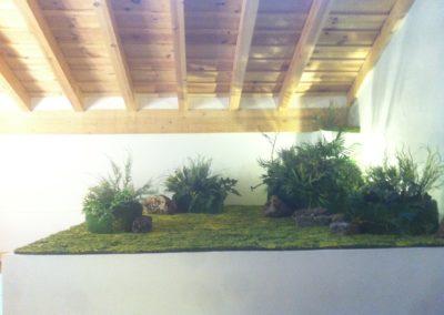 Suelo vegetal escaleras Ajofino